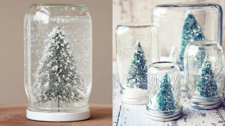 Decora tu hogar con una bola de nieve diy pinturas - Bola nieve navidad ...