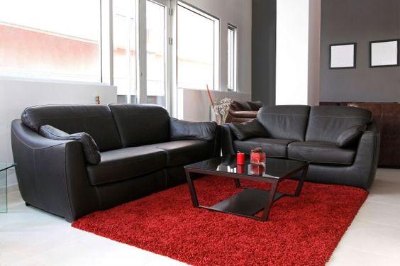Combinaciones de color para salones pinturas lepanto - Salones con sofa negro ...