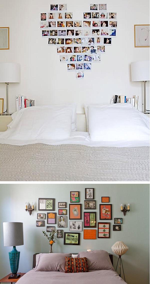 Pinta tu propio cabecero de cama en la pared pinturas - Decorar pared cabecero ...