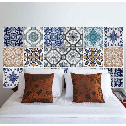 Pinta tu propio cabecero de cama en la pared pinturas for Vinilo azulejo hidraulico