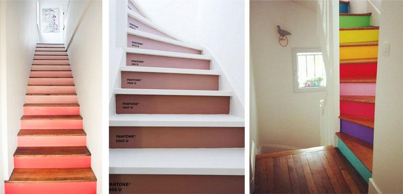 Ideas para pintar la escalera pinturas lepanto for Jaula de la escalera de color idea