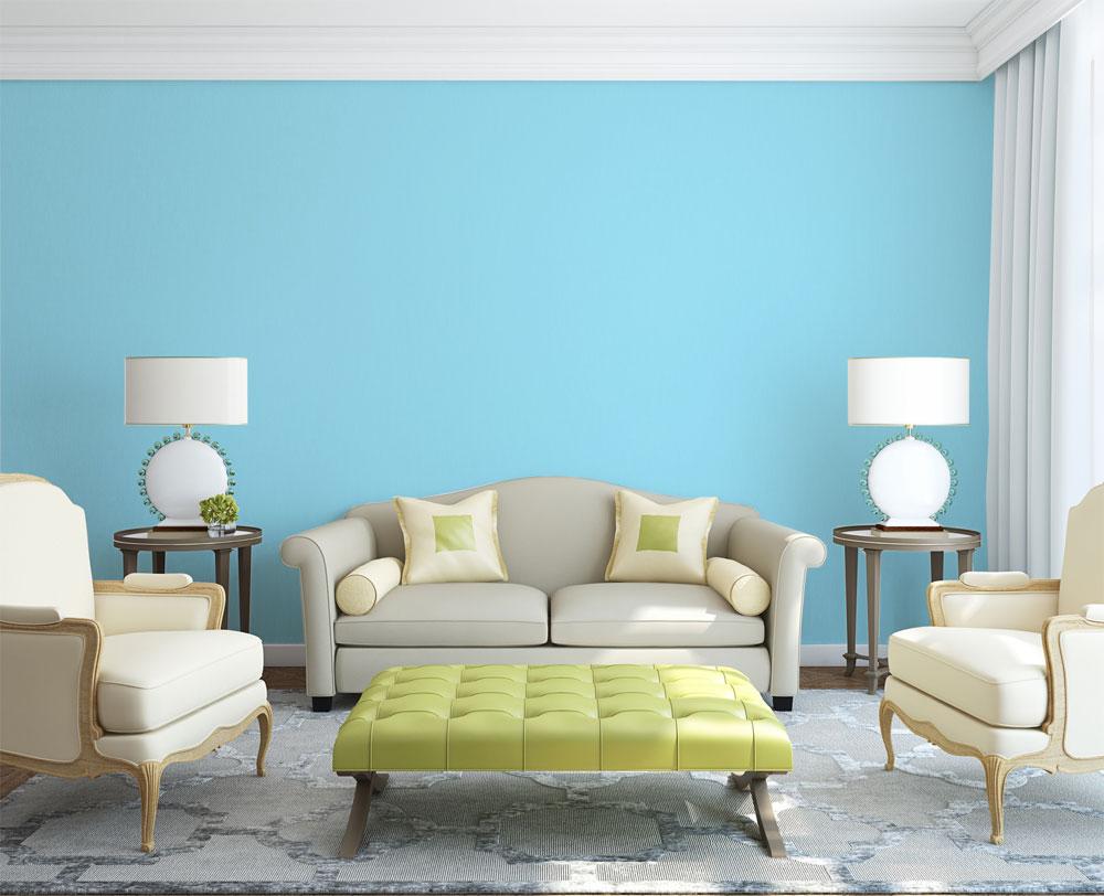 Refresca tus habitaciones con azules y verdes pinturas - Color paredes casa ...