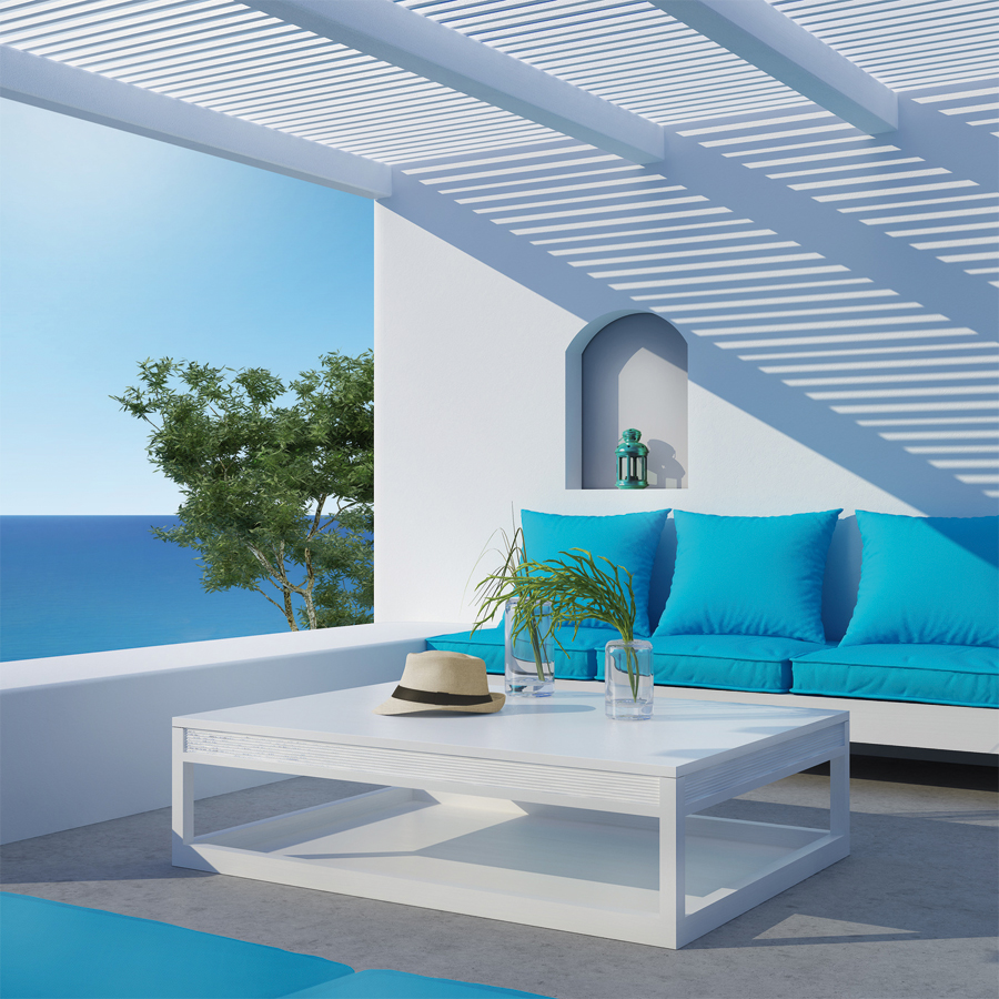 Disfruta con una terraza a todo color pinturas lepanto for Pintura para pared exterior
