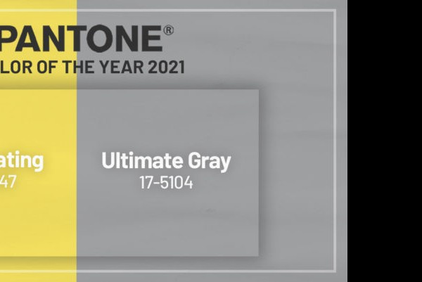 PANTONE color of the year 2021:  Ultimate Gray +  Illuminating