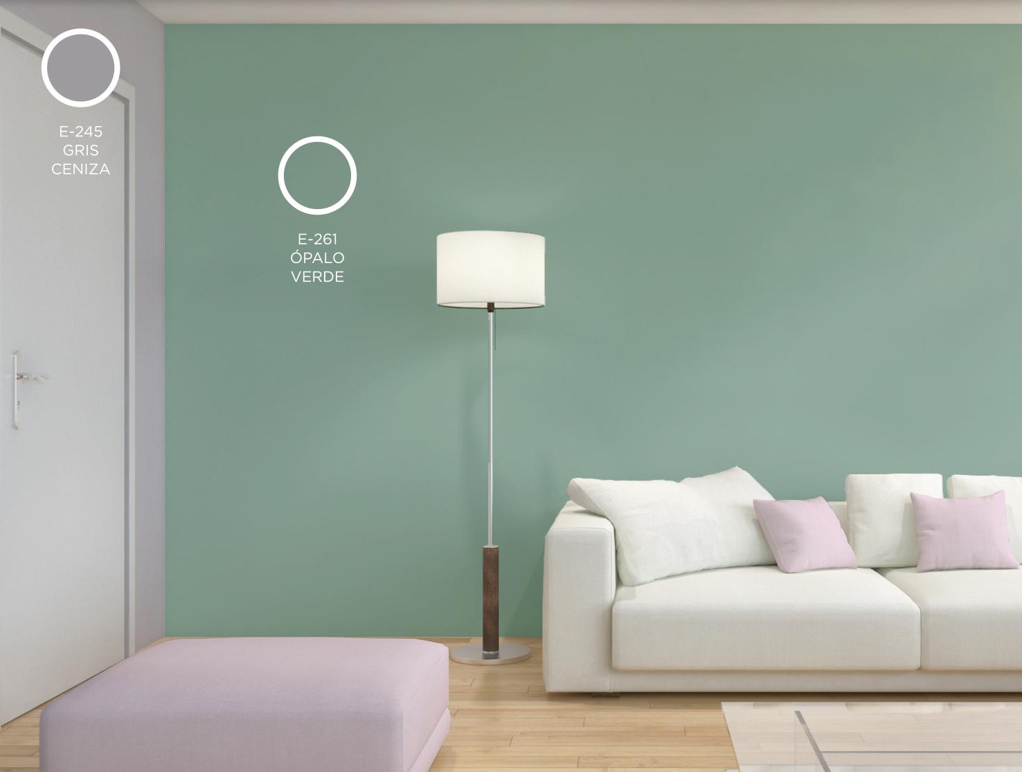 Ópalo verde, la primavera en la pared :: Pinturas Lepanto