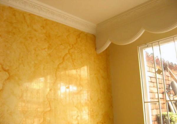 T cnicas decorativas de pintura marmoleado pinturas - Tecnicas de pintura paredes ...