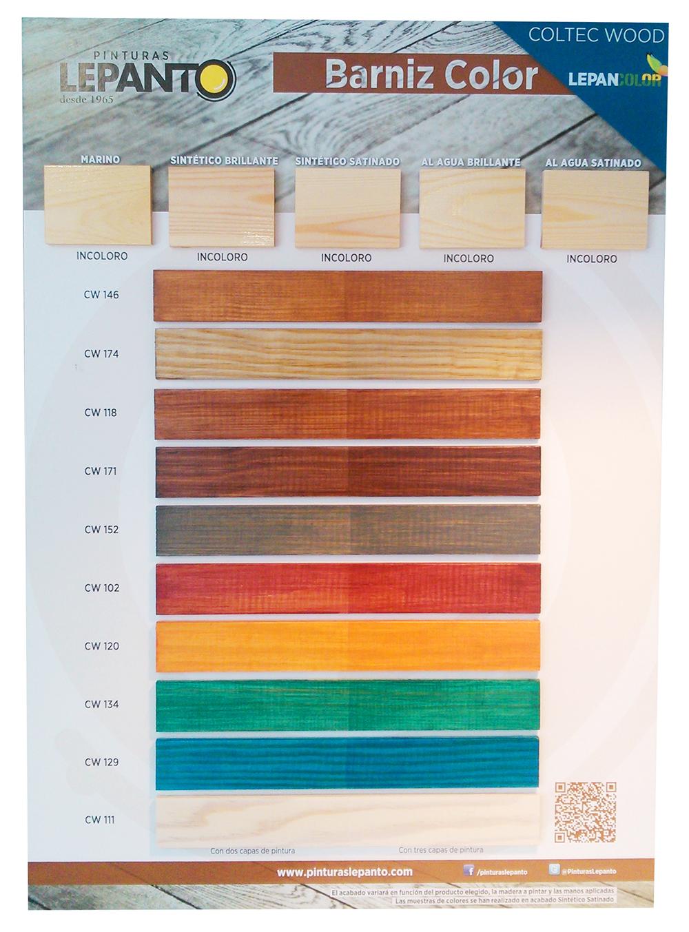 Barniz color pinturas lepanto fabricante de pintura - Pintura para madera colores ...