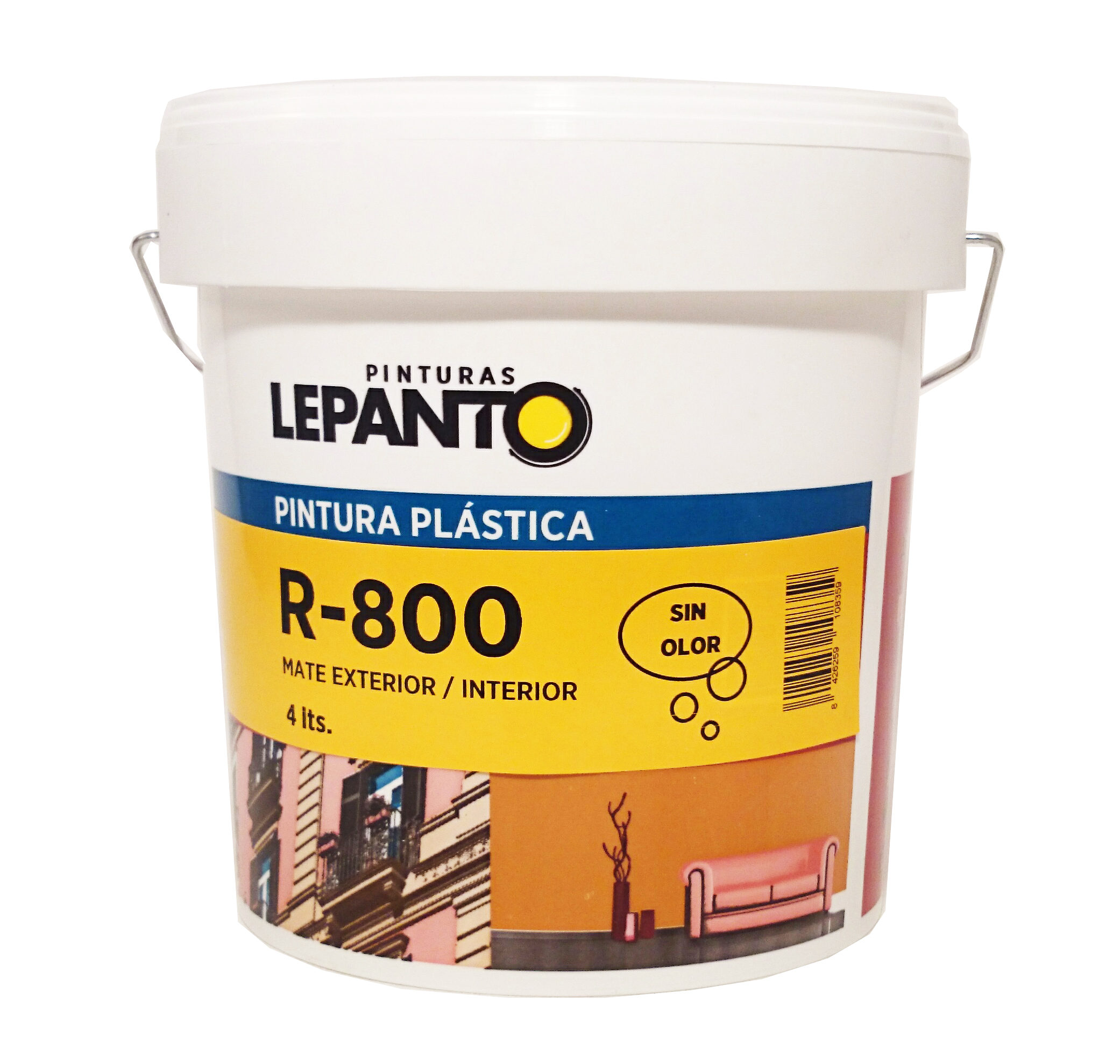 R 800 pinturas lepanto fabricante de pintura para profesionales y distribuidores - Pintura plastica interior ...